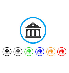 bank building rounded icon vector image