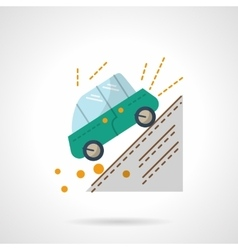 Car accident flat color design icon vector image vector image