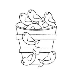 fish food multiplication religious sketch vector image