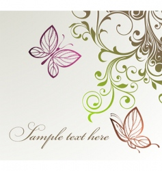 floral butterflies background vector image vector image