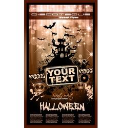 hallowen party flyer vector image vector image