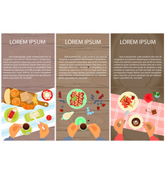 menu for sweet table vector image