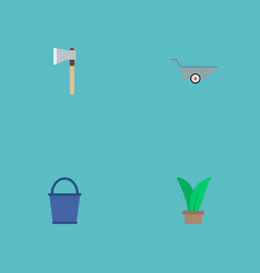 set of horticulture icons flat style symbols with vector image