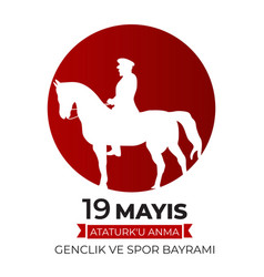 19th may commemoration ataturk youth vector