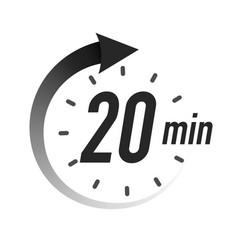 20 timer minutes symbol black style vector