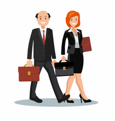 A set of business couple symbols of man vector