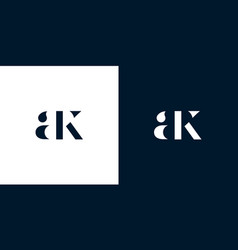 Abstract letter ak logo vector