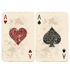 Ace hearts and spades vector