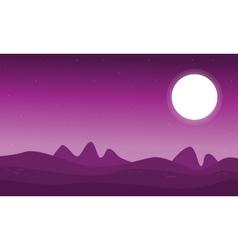 Art of space desert landscape vector