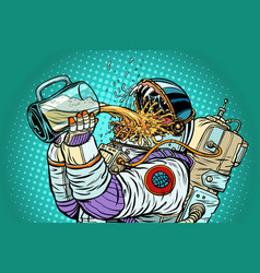 astronaut mutant thirst for beer vector image