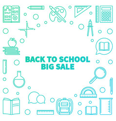 back to school big sale concept colored vector image