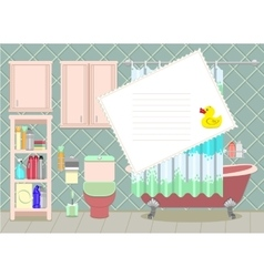 bathroom card vector image