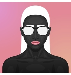 beauty Woman with Glasses on her Face vector image