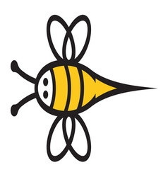 Bee icon2 resize vector image
