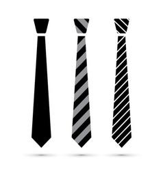 black tie set vector image
