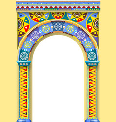 Bright color arch of the carousel vector