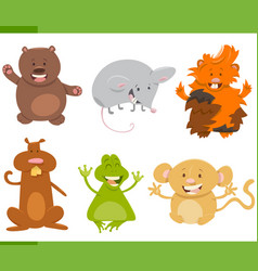 cartoon animal characters set vector image