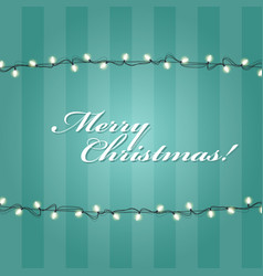 Christmas lights garlands frame - festive lights vector