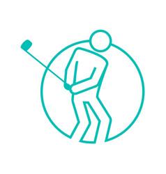Circle shape golf sport figure outline symbol vector