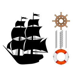classical ship vector image