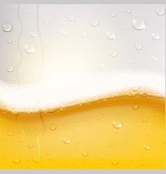 Cold beer texture with condensation drops vector