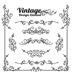 Collection of decorative vintage and classic vector