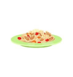 Cooked pasta italian cuisine vector