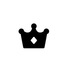crown king icon vector image