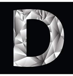 Crystal letter D vector