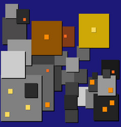 cubism street lights vector image