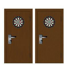 dartboard on door vector image