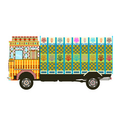decorated truck vector image