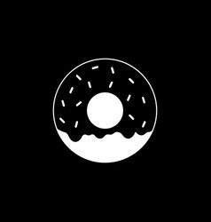 Donut solid icon food drink elements vector