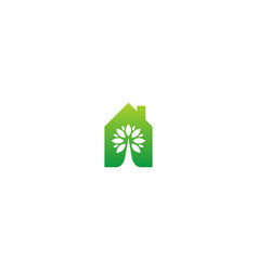 eco house organic environment logo vector image