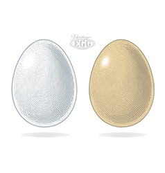 Egg in vintage engraved style vector image
