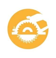 Electric saw isolated icon vector