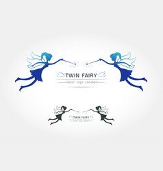 Fairy flying logo vector