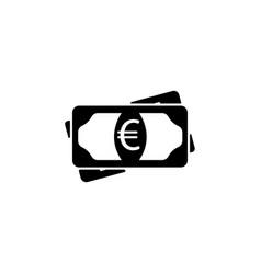 flat icon of money euro icon vector image