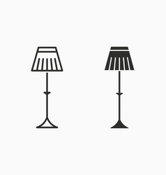 floor lamp icon for graphic and web design vector image