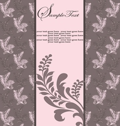 floral vintage invitation vector image