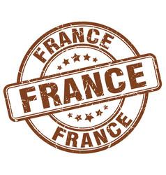 France brown grunge round vintage rubber stamp vector