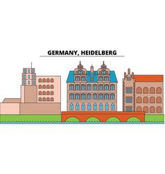 Germany heidelberg city skyline architecture vector