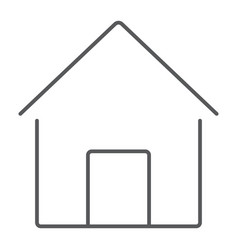 home thin line icon house and building button vector image