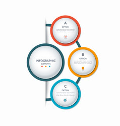 infographic semi circle template with 3 options vector image
