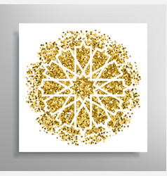 islamic golden pattern vector image