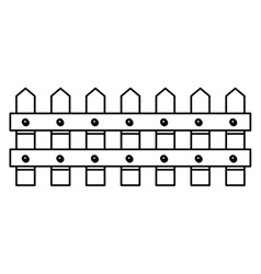 Isolated wood fence design vector