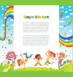 kids party for web page design vector image
