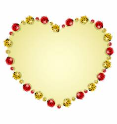 ladybugs forming heart vector image