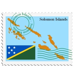 mail to-from Solomon Islands vector image