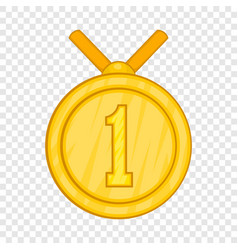 medal for first place icon cartoon style vector image